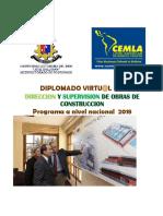 Direccion y Supervision de Obras 2018 Cemla