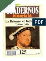 Cuadernos de Historia 16 - Nro. 125 - La Reforma en Inglaterra