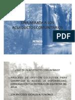 Una Mirada a Los Acueductos Comunitarios