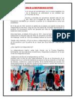 Historia de La Independencia en Perú