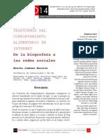 Icono14. A8/ESP. Trastornos del comportamiento alimentario en Internet. De la blogosfera a las redes sociales