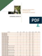 Horarios Fti 2018-19