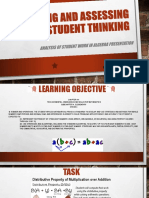 eliciting and assessing student thinking