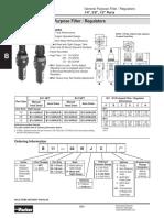 B11 Data Sheet - Regulador de Presión