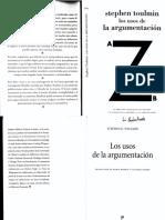 Los Usos de La Argumentación. La Forma de Los Argumentos