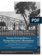 Teoría Extrapolítica y Postpoliticiso (Resumen) - Piero Gayozzo - IDPE