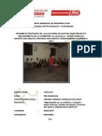 Informe de Las Propuestas de Las Acciones Aplicativas en El Caserio La Jalquillaa