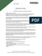 18/07/18 Presenta CRESON convocatoria de estudios de posgrado –C.071894