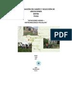 Investigación en Campo y Selección de Ubicaciones
