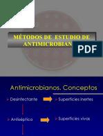 metodos de estudio antimicrobiano