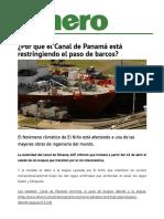 1C16-S15-¿Por qué el Canal de Panamá está restringiendo el paso de barcos?
