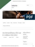 An Extraordinary Life_ Lee O. Coldren 1943-2012