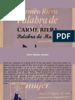 Javier Ceballos Jiménez - Carme Riera, Palabra de Mujer
