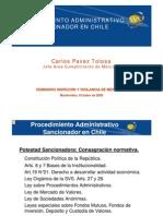 Carlos Pavez Tolosa Procedimiento Administrativo Sancionador en Chile
