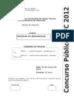 As Ad Ccv Ufc 2012 Prova