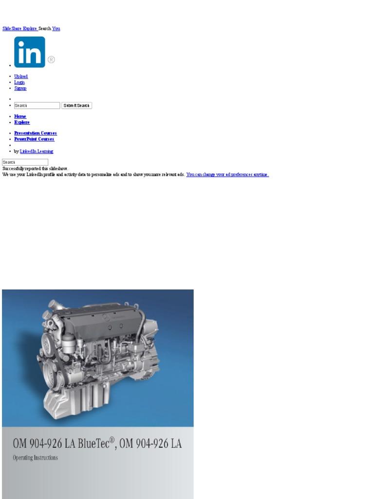 MB - Om 926 LA | Fuel Injection | Diesel Engine