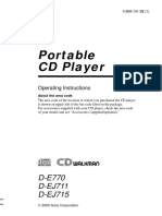Sony De770 CD Player Manual