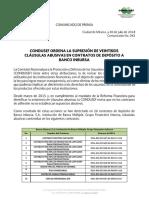 COMUNICADO-043-CONDUSEF ORDENA SUPRESIÓN DE 26 CLÁUSULAS ABUSIVAS