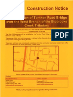 Construction Notice - Tomken Road Bridge