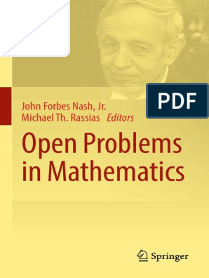 Open-Problems-in-Mathematics pdf | Time Complexity