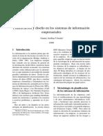 Planificación y Diseño en Los Sistemas de Información Empresariales