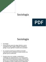 SOCIOLOGÍA
