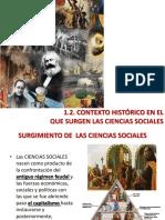 Contexto Histórico en El Que Surgen Las Ciencias Sociales