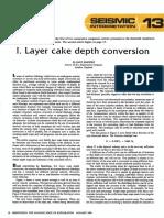 I. Layer Cake Depth Conversion SEISMIC I