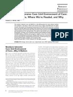 The Newborn Intensive Care Unit Environment of Care