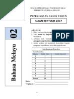 Peperiksaan Akhir Tahun Bahasa Melayu Tingkatan 2