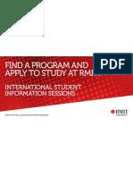International Student Information Sessions at Info Corner.-- RMIT University, Melbourne, Australia.