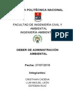 Deber de Administración 27-07-2018