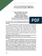 Tasas de interés en Ecuador estimulan la inversión en el sector privado