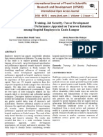 The Influence of Training, Job Security, Career Development Opportunities and Performance Appraisal on Turnover Intention among Hospital Employees in Kuala Lumpur
