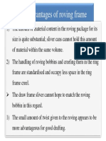 Advantages of Roving Frame
