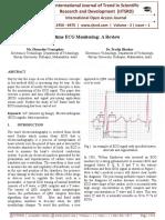 Real time ECG Monitoring