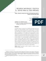 recursos naturales y politicas publicas