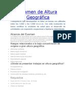 Examen de Altura Geográfica