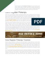 Hal Yang Diperlukan Untuk Register Pokerqiu.docx