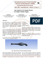 Design and Analysis of Air Intake System for Single Cylinder Engine
