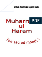 Virtues of the Holy Month of Muharram