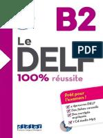 Le Delf 100 Réussite B2 Deuxième Version Croissance
