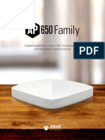 Aerohive Datasheet AP650 Family