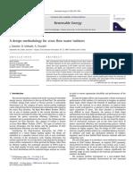 Zanette, Imbault, Tourabi - 2010 - A Design Methodology for Cross Flow Water Turbines