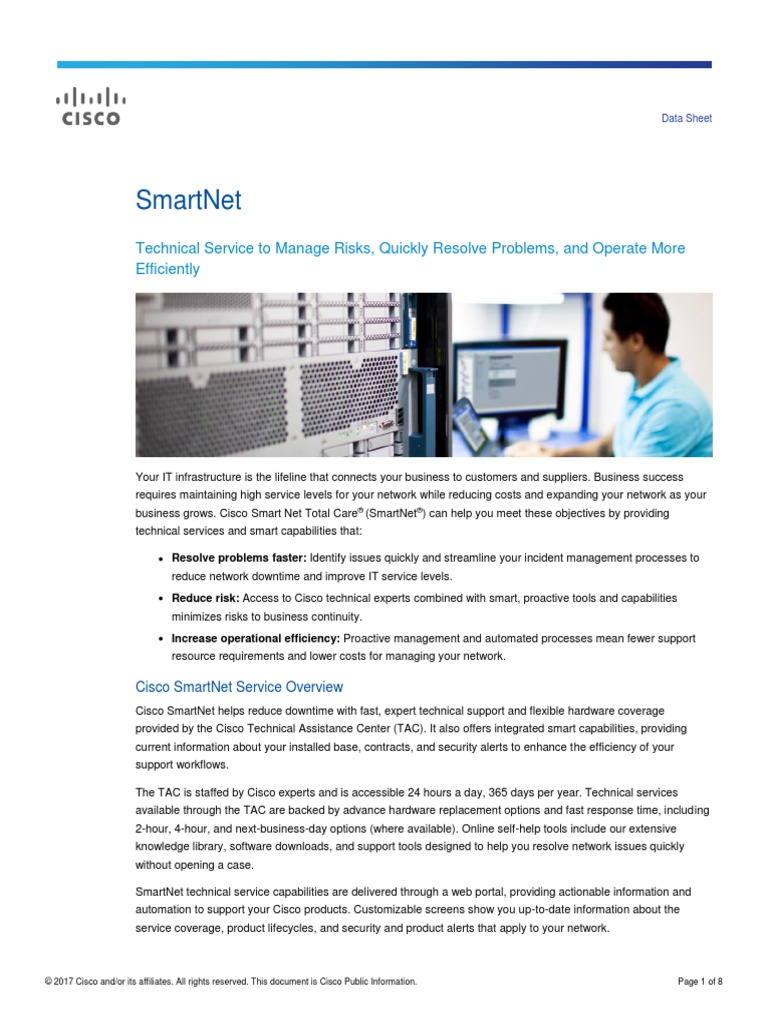 Datasheet c78 735459 Cisco Smartnet   Cisco Systems   Online Safety