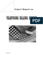 Telephone Billing System Project Report.doc