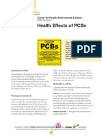Health Effects of PCBs Fact Sheet