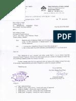 BSP's letter No. 1133 dtd. 10.05.2018