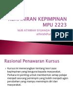 MPU2223 Kemahiran Kepimpinan