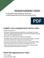 Pengoperasian Kamera Video